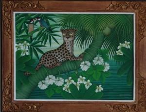 LABA「若豹の憧憬」 アクリル/キャンバス 55㎝×75㎝