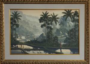 GALUH「黄昏の静謐」 油絵/キャンバス 60㎝×40㎝