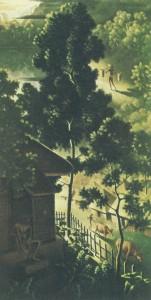 シュピース「村の通りの眺望」(1935)