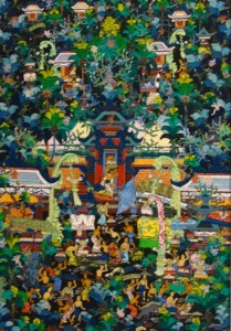 ソキ「バリの村落」アルマ美術館所蔵