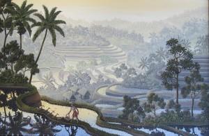 GALUH「早暁の静謐」 油彩/キャンバス 40cm×60cm