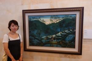 ウィラナタ「夕暮れのうなぎ穫り」 プリルキサン美術館所蔵
