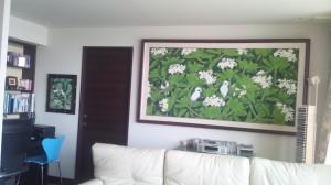 大きな花鳥画