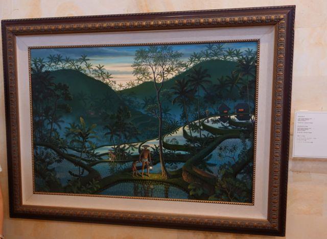 「夕暮れのうなぎ穫り」ウィラナタ プリ・ルキサン美術館所蔵