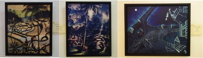 左から「プレアンガー高原の水田(1923)」「高台からの眺望(1934)」「別れ(1921)」
