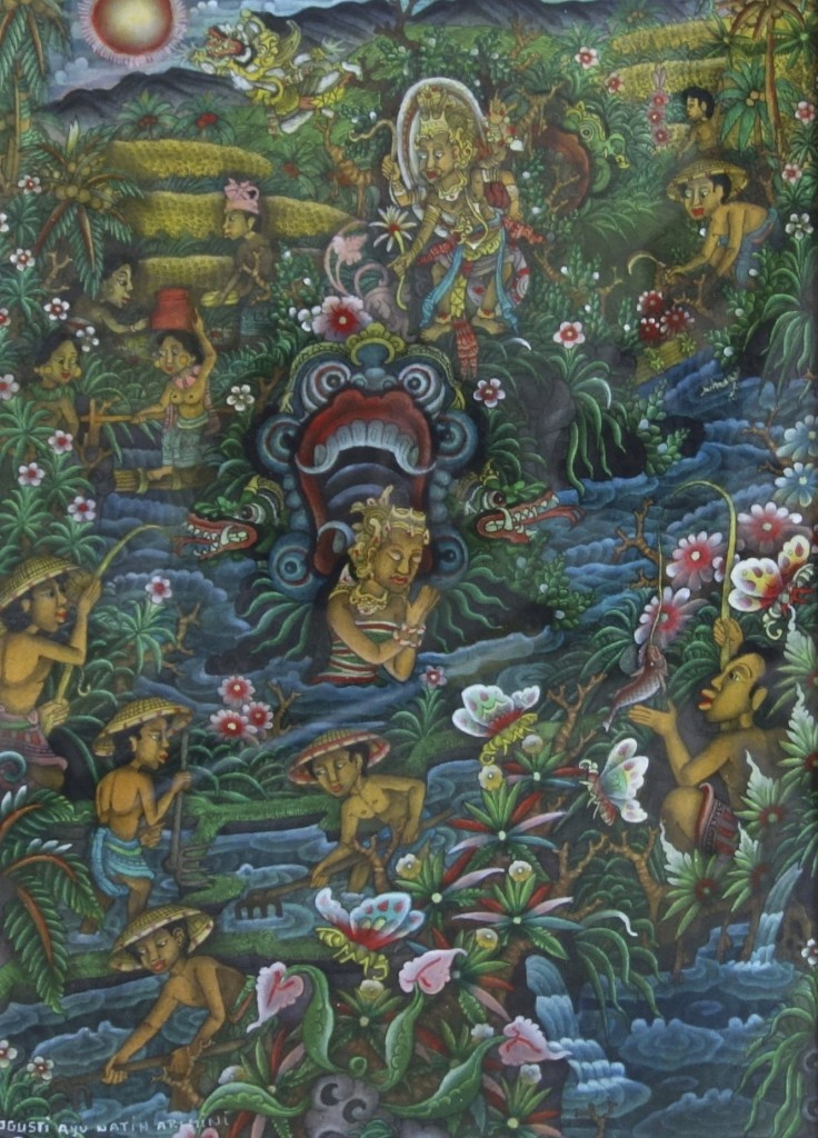 『ハヌマンの誕生』35x25cm アクリル画