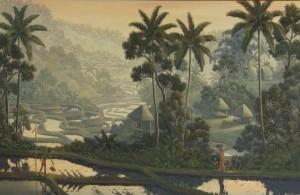 「蓼科湖夕景」の作品イメージを与えてくれたガルー作「黄昏の静謐」