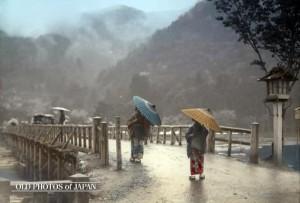 150_雨の渡月橋