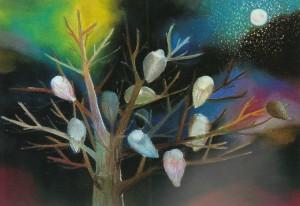 『鳥を宿す木』2011年 パステル