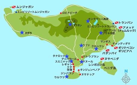 ブログ172_バリ島地図