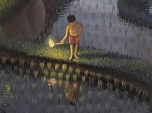 ウィラナタ新作『満月の夜に(仮題) 』部分