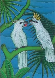 「二羽の白いインコ」