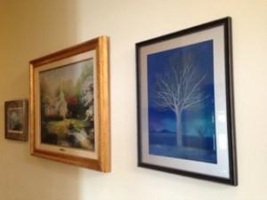 私が贈った絵はダラスの自宅に飾られている