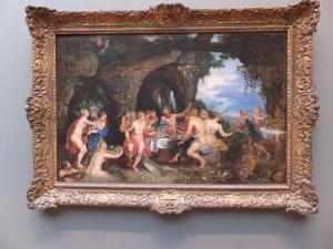 ギリシャ神話が題材の「アケオロスの饗宴」(1615年)