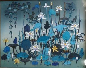 『雨上がりの庭』GAMA 40x50cm