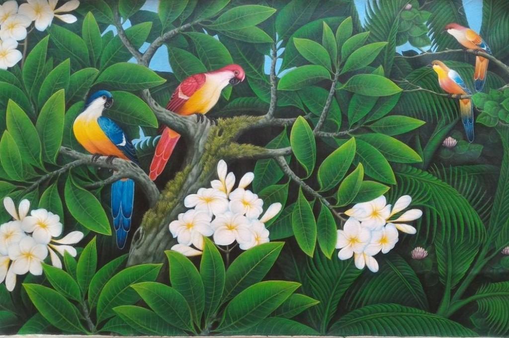 ご注文制作『フランジバニの咲く森』DEWA 50x80cm