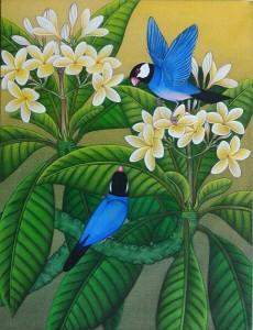 『恋する文鳥たち』RAKA 40x30cm