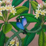 『恋する文鳥たち V』RAKA 40x50cm