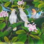 『キバタンの棲む森』DEWA 35x70cm