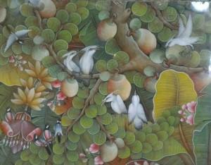 『実りの木Ⅳ』Dewa Putu Budi 70x90cm